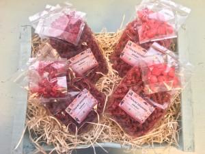 ovocné těstovony lyofilizované ovoce